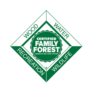 Fairsing Vineyard is a proud member of the American Tree Farm System and identification as a Certified Family Forest