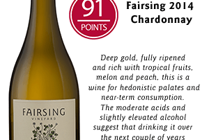 Fairsing Vineyard 2014 Chardonnay honored with 91 Points from Wine Enthusiast December 2016.