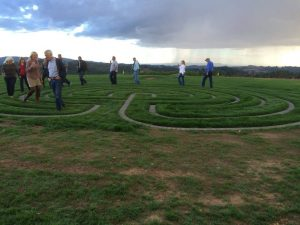 Fairsing Vineyard guest enjoy strolling the seven-circuit labyrinth
