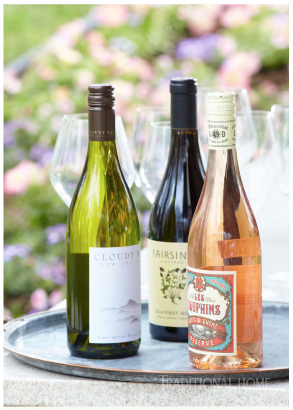 "Traditional Home Magazine's July/August edition includes Fairsing Vineyard 2014 Pinot noir as a ""Summer Wine Pairing"" in its Elegant Outdoor Dining feature."
