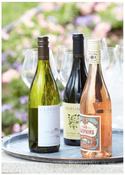 """Traditional Home Magazine's July/August edition includes Fairsing Vineyard 2014 Pinot noir as a """"Summer Wine Pairing"""" in its Elegant Outdoor Dining feature."""