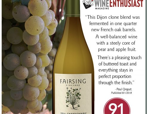 2016 Chardonnay – 91 Points from Wine Enthusiast