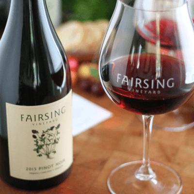 2016 Pinot Noir Fairsing Release Saturday, August 18 at Fairsing Vineyard