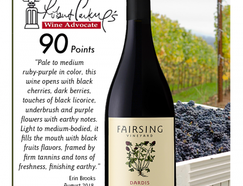 Fairsing Vineyard 2016 Pinot Noir Dardis Available