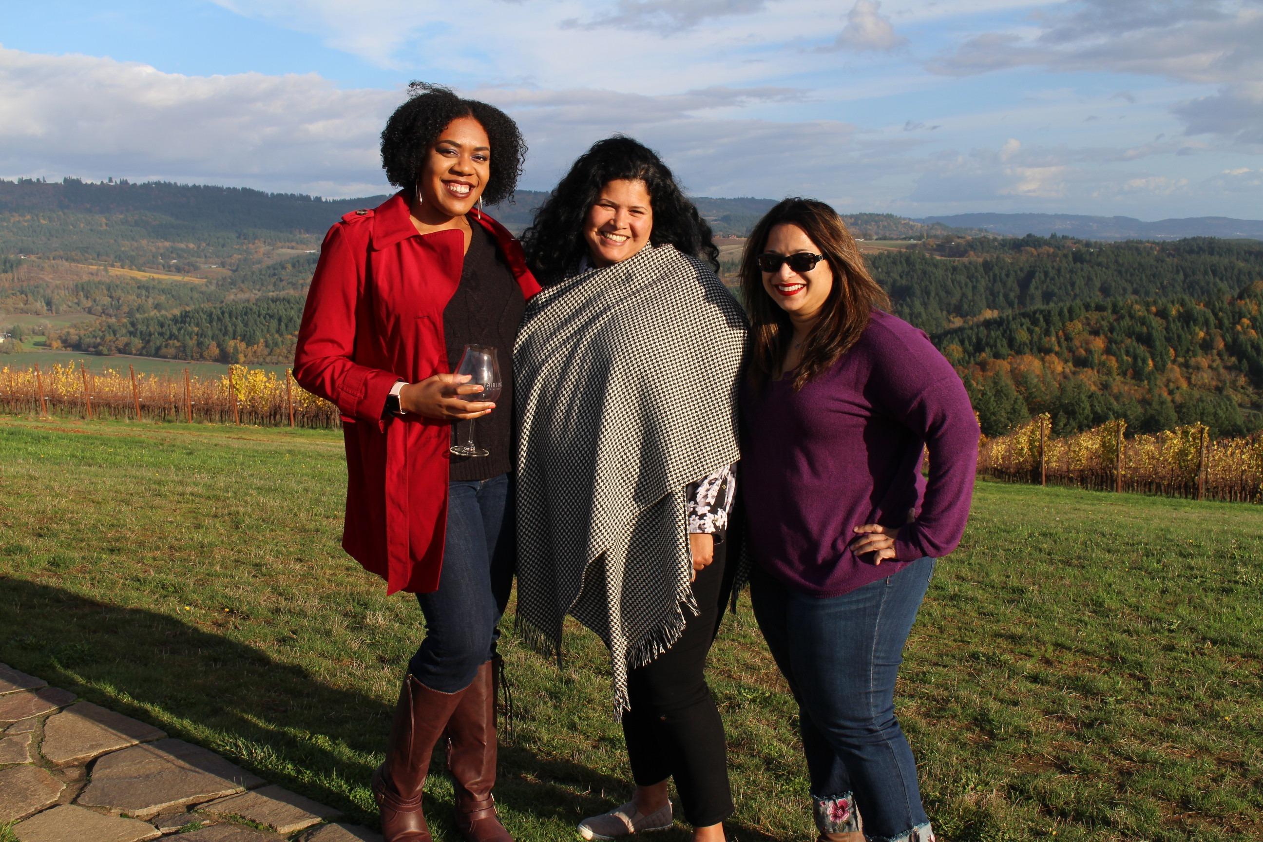 Fairsing Vineyard Wine Club members enjoying fabulous weather at the fall open house