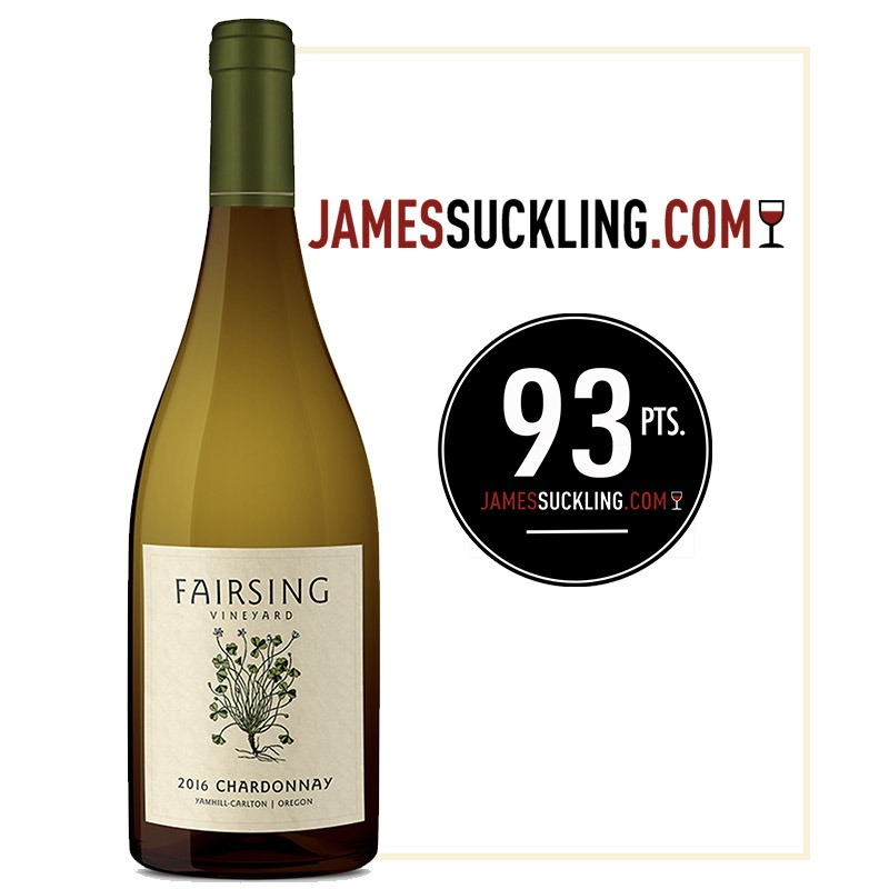 The 2016 estate Fairsing Vineyard Chardonnay received 93 Points from James Suckling