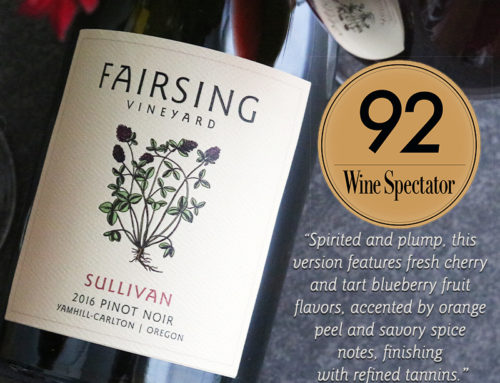 Praise for the 2016 Fairsing Vineyard Pinot noir Sullivan