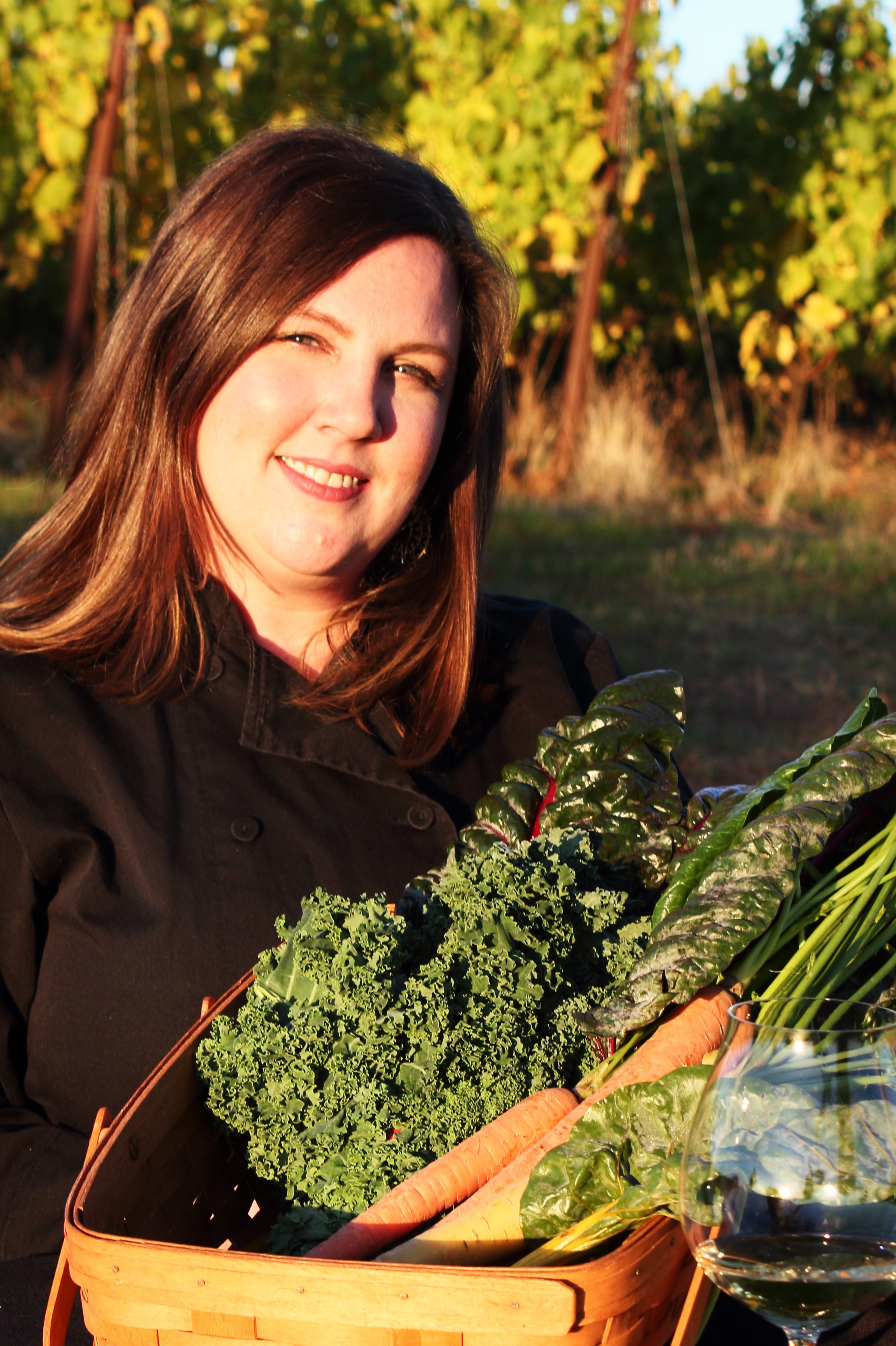 Chef Rebecca Clarke at the helm of Fairsing Vineyard's Culinary program in Oregon's Willamette Valley