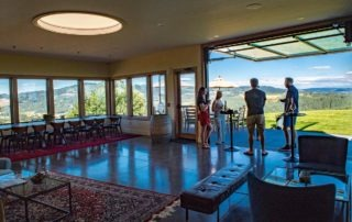 The Fairsing Vineyard event venue with panoramic views of Oregon's Willamette Valley