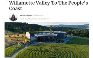 "Fairsing Vineyard featured in Forbes August 4, 2019 ""Oregon Road Trip"" by Contributor, Amber Gibson"