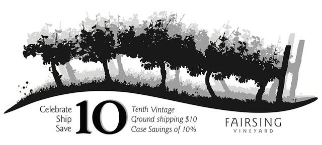 Fairsing Vineyard celebrating our 10h Vintage in the Yamhill-Carlton AVA of Oregon's Willamette Valley
