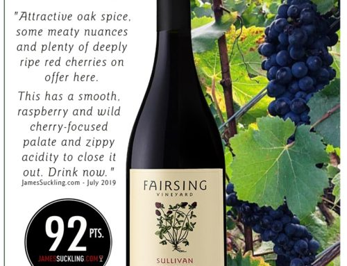 Favorable News for the 2017 Fairsing Vineyard Sullivan Pinot Noir