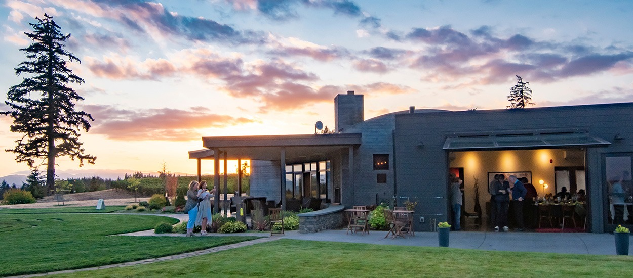 Fairsing Vineyard tasting room and event venue offers a picturesque environment, culinary diversity, and estate wines