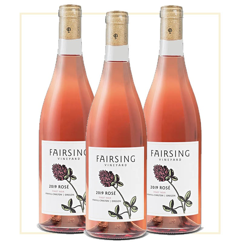 A summer sipping special featuring the Fairsing Vineyard 2019 Rosé of Pinot Noir