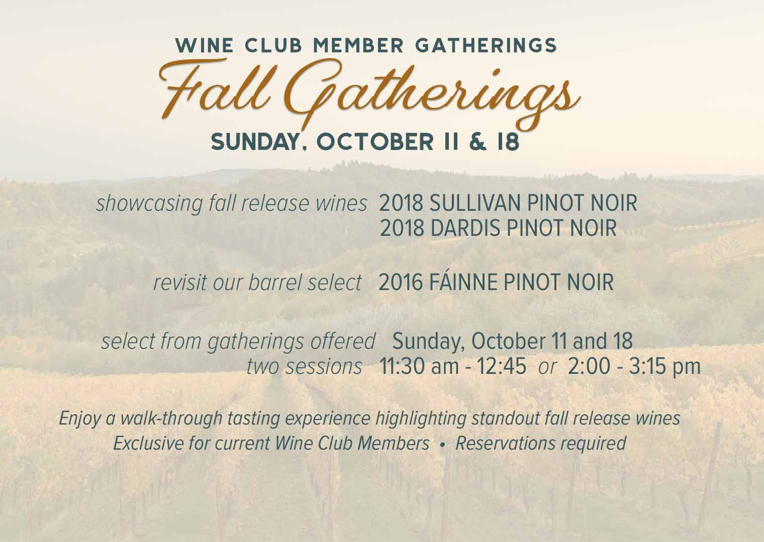 The Fairsing Vineyard tasting room with barrel ceiling and expansive views of the Willamette Valley