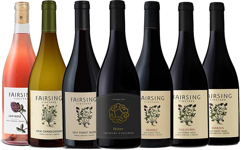 Fairsing Vineyard estate wines available by the case wit 10% savings