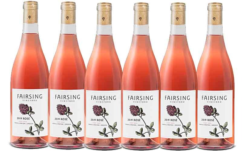 The coveted Fairsing Vineyard 2019 Rosé of Pinot noir six bottle bundle