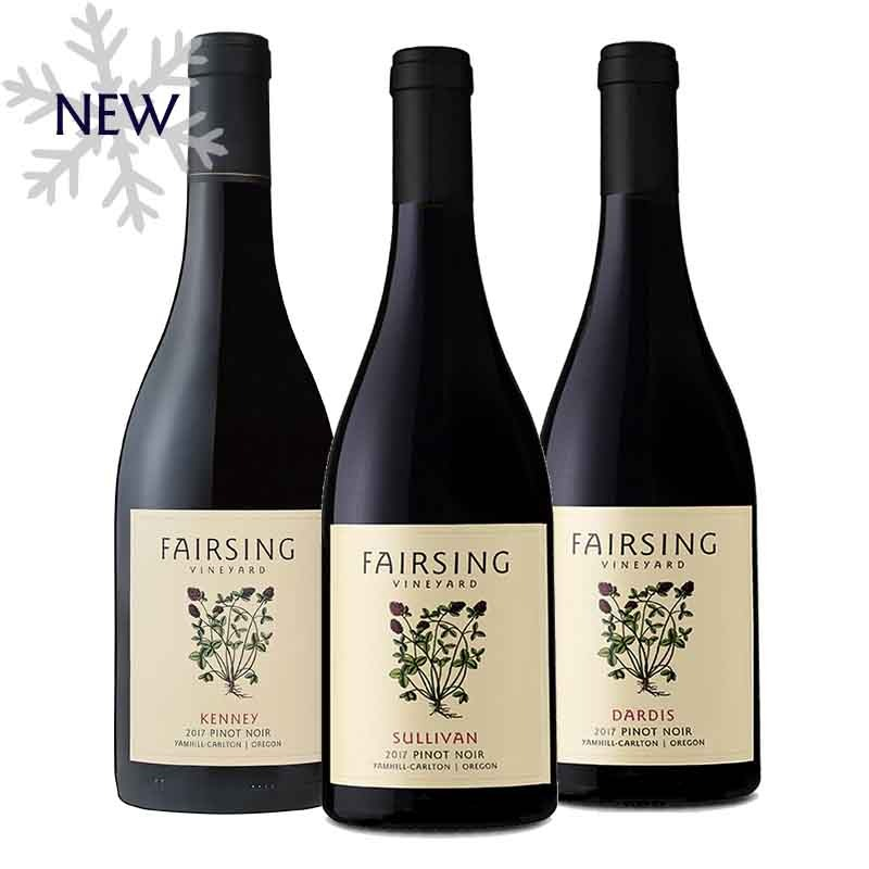 Comfort and joy from a trio of stellar 2017 Pinot noir from Fairsing Vineyard in Oregon's Willamette Valley