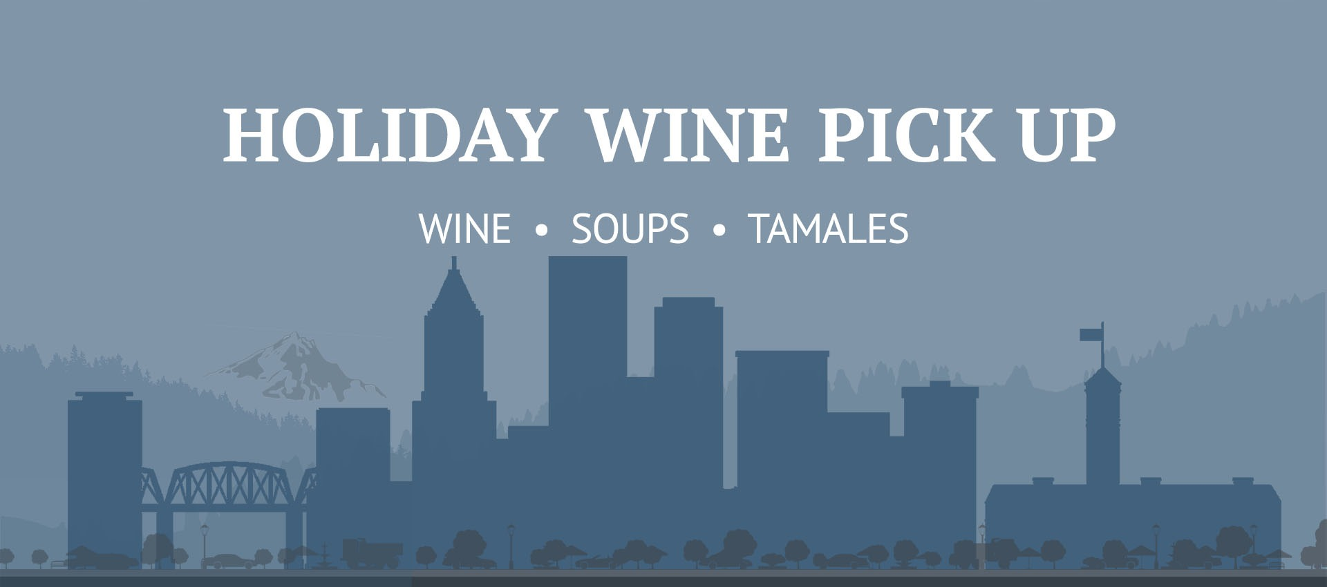 Celebrate the winter solstice in the city and Fairsing Vineyard to pick up wine, soup, and tamales