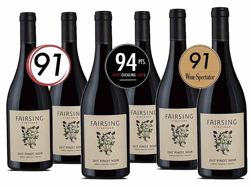 The acclaimed 2017 Fairsing Pinot noir from Oregon's Willamette Valley
