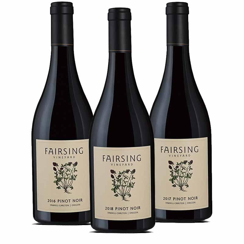 The stellar vintages of Fairsing Vineyard's acclaimed estate Pinot noir