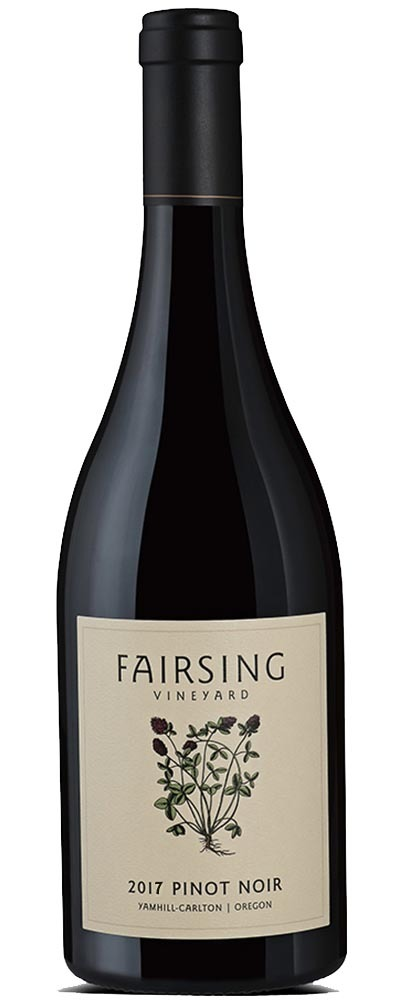 This image is of the estate grown Fairsing Vineyard Pinot noir from Oregon's Willamette Valley
